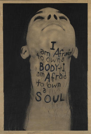 A Word Made Flesh (Throat), 1994. Lesley Dill. American, born 1950