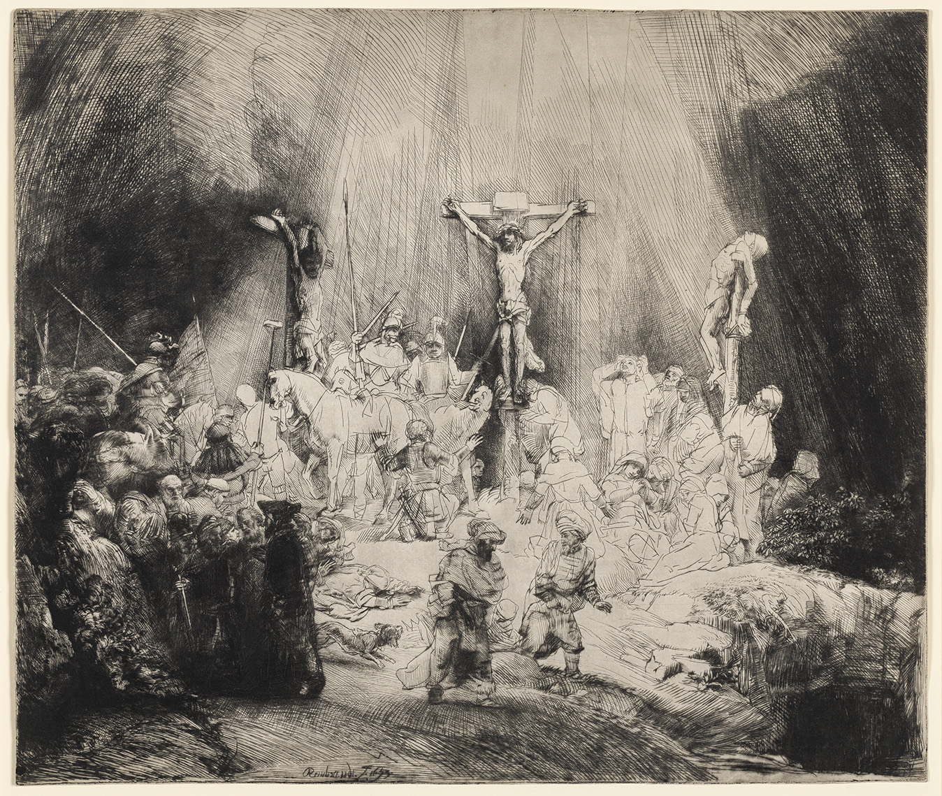 Rembrandt, Three Crosses