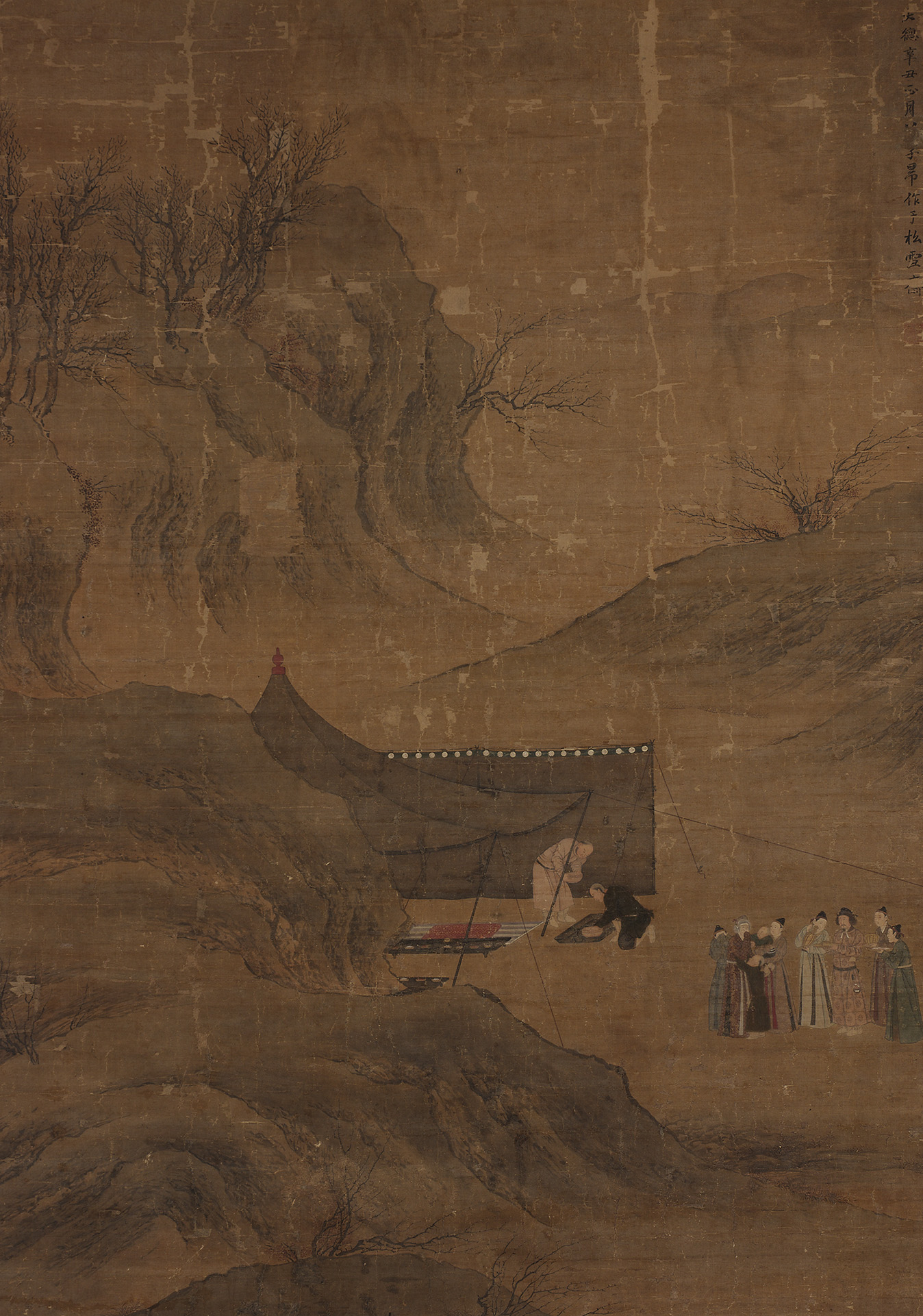 Sheng Mou, Departure of Lady Wenji