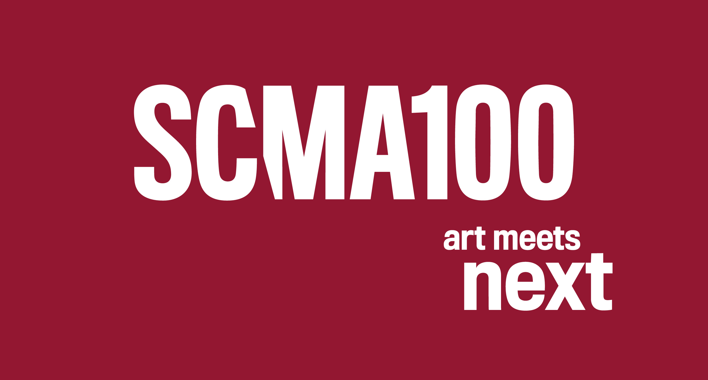 SCMA100 art meets next logo