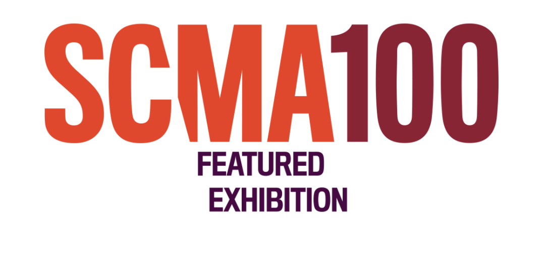 SCMA100 logotype with Featured Exhibition text underneath